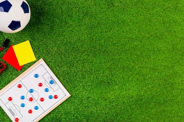 Fußballzusammensetzung mit copyspace und recht Kostenlose Fotos