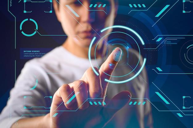 Futuristische technologie-bildschirmoberfläche Kostenlose Fotos