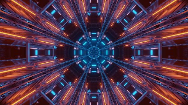 Futuristischer hintergrund mit leuchtendem abstraktem neonlicht Kostenlose Fotos