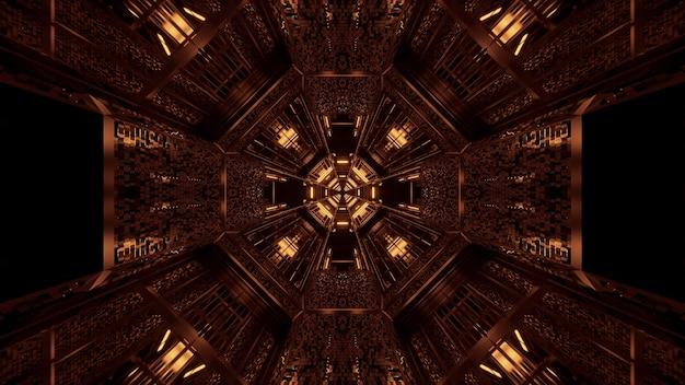 Futuristischer hintergrund mit leuchtenden abstrakten neonlichtmustern - ideal für einen kosmischen hintergrund Kostenlose Fotos