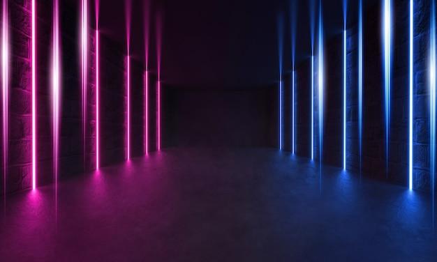Futuristischer sci-fi modern room, lasershow Premium Fotos