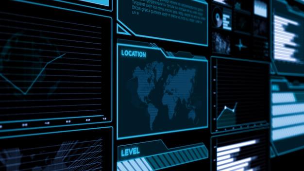 Futuristisches dashboard der benutzeroberfläche Premium Fotos