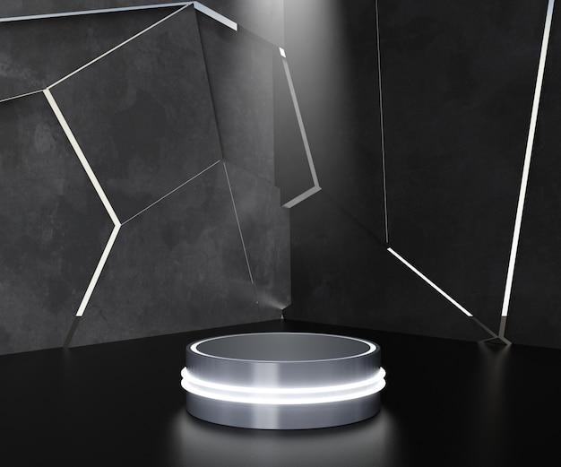 Futuristisches podest für podiumsdisplay. Premium Fotos