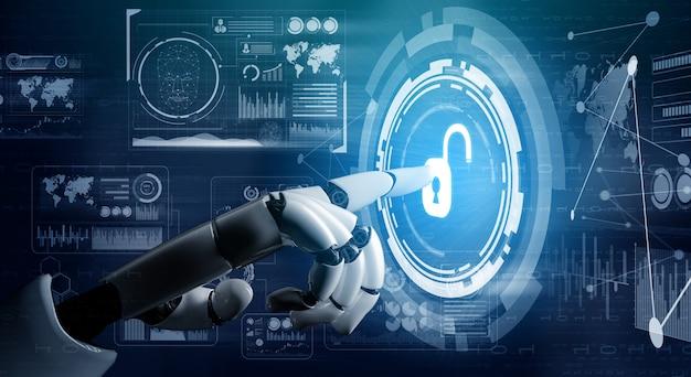 Futuristisches roboterkonzept für künstliche intelligenz. Premium Fotos