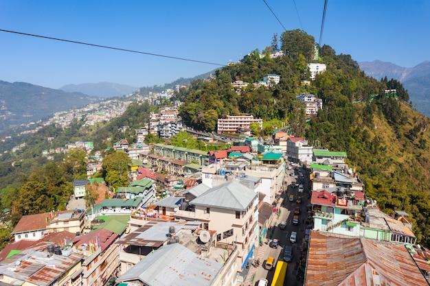 Gangtok-seilbahn, indien Premium Fotos