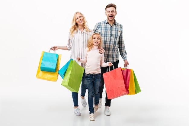 Ganzaufnahme einer glücklichen familie Kostenlose Fotos