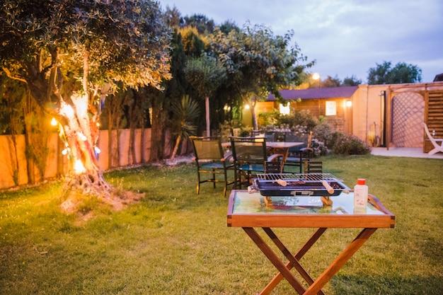 Garten bereit zum grillen Kostenlose Fotos