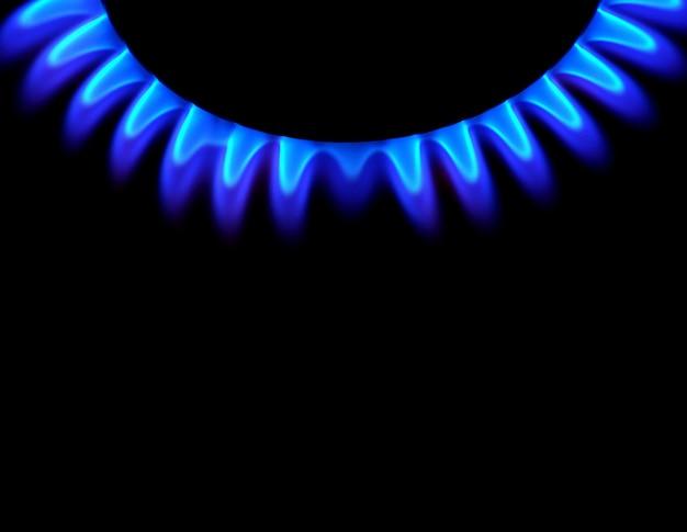 Gas auf dunklem hintergrund Premium Fotos