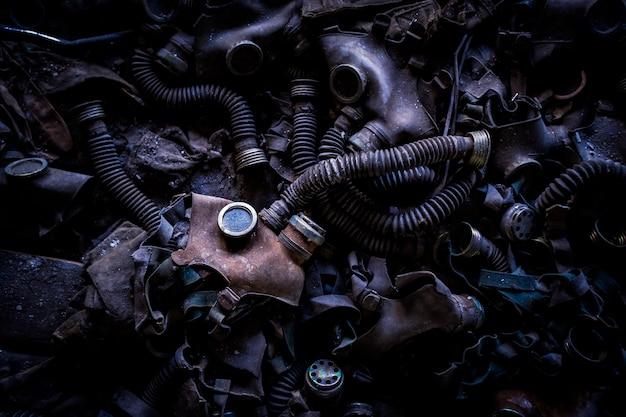 Gasmasken in einer verlassenen schule in tschernobyl pripyat, ukraine (ehemalige udssr). Kostenlose Fotos