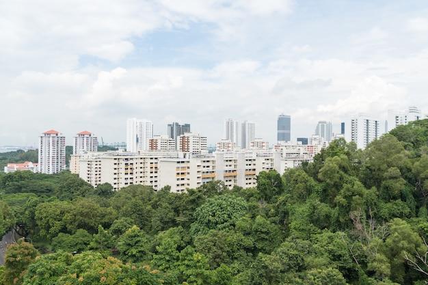 Gebäude in singapur stadt. Premium Fotos