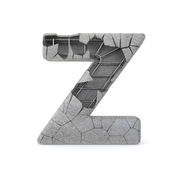 Gebrochenes beton-alphabet z Premium Fotos