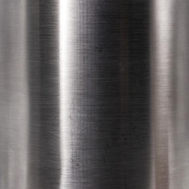 Gebürstete stahlplattenbeschaffenheit. hartmetallmaterial hintergrund. Premium Fotos
