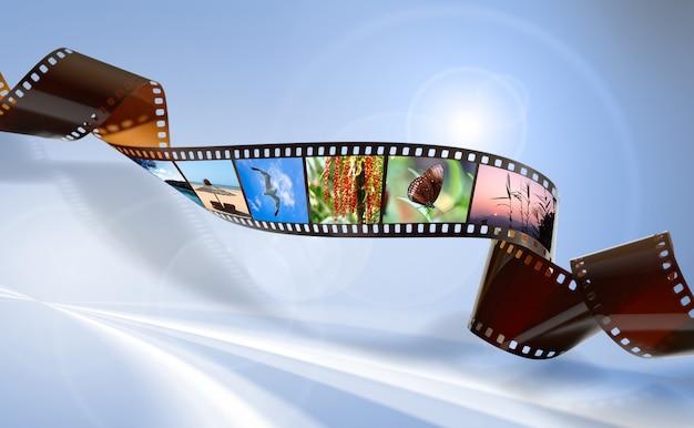 Gedrehter film für foto- oder videoaufnahmen Premium Fotos
