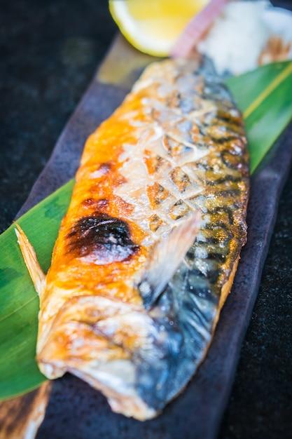 Gegrillter saba-fisch Kostenlose Fotos
