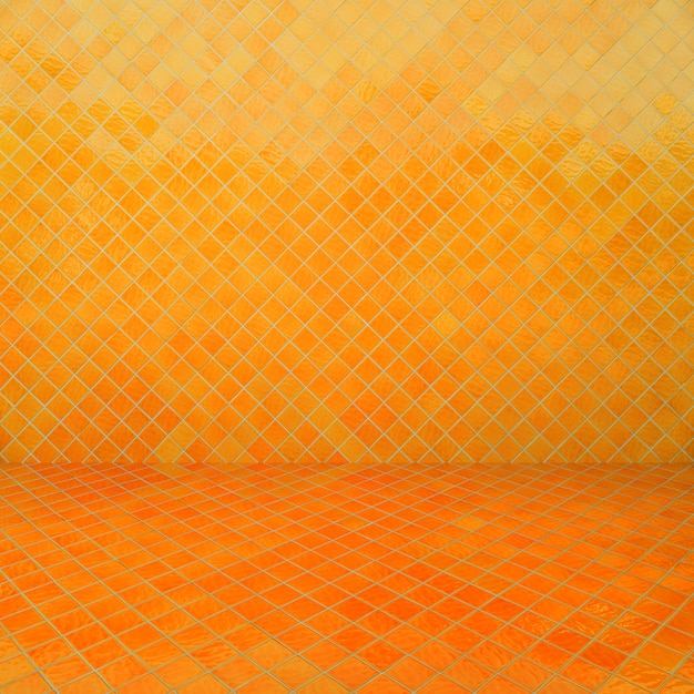 Gelbe mosaikbeschaffenheit und -hintergrund. Premium Fotos