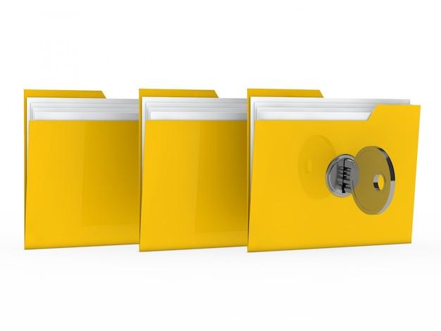 Gelbe ordner gesperrt Kostenlose Fotos