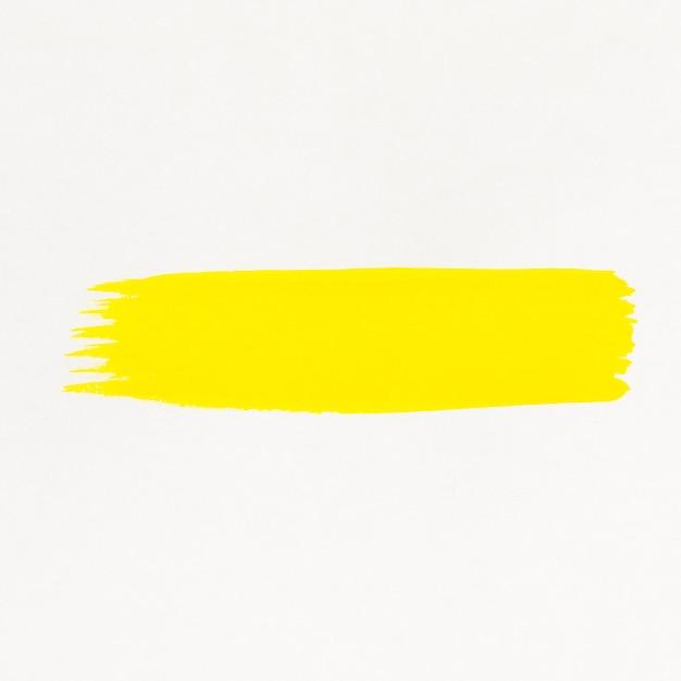 Gelbe pinsellinie aquarell gemalt Kostenlose Fotos