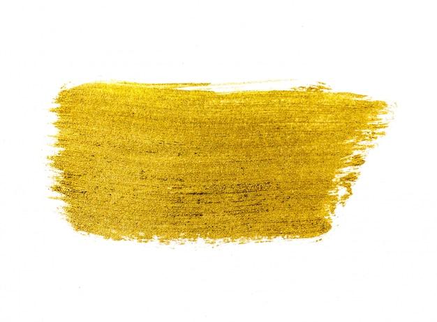 Gelber aquarellpinsel Premium Fotos