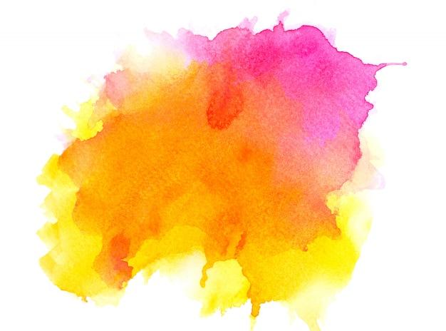 Gelbes aquarell auf papier. Premium Fotos