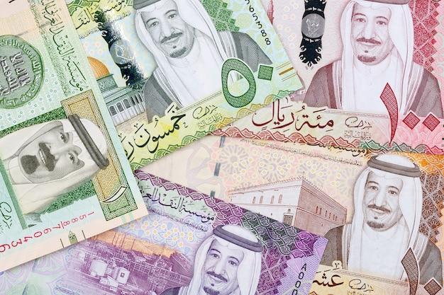 Geld aus saudi-arabien Premium Fotos