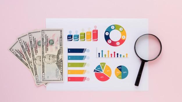 Geld mit charts Kostenlose Fotos