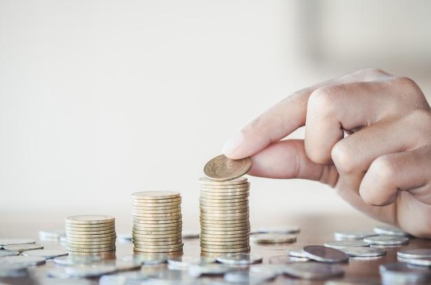 Geld sparen-konzept Premium Fotos