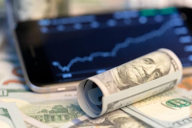 Geld und grafik Premium Fotos