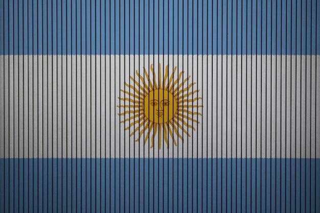 Gemalte staatsflagge von argentinien auf einer betonmauer Premium Fotos