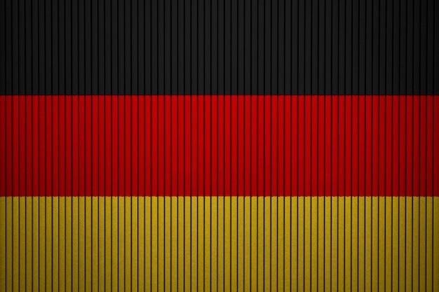 Gemalte staatsflagge von deutschland auf einer betonmauer Premium Fotos