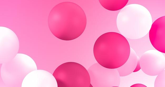 Geometrische ballone für feiertage, feier, ereignishintergrund. Premium Fotos