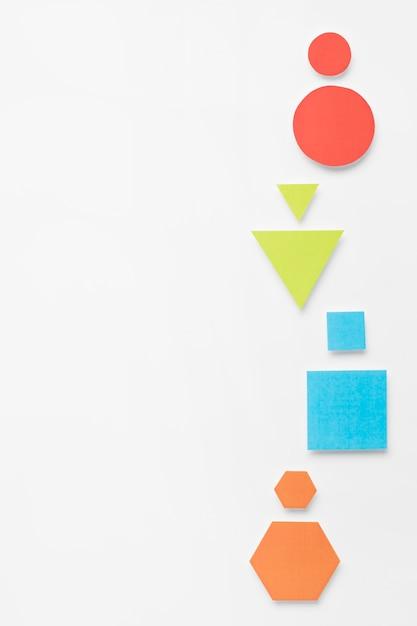 Geometrische formen in verschiedenen farben Kostenlose Fotos