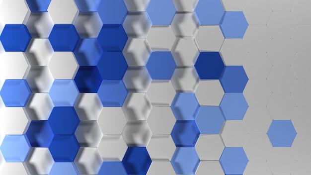 Geometrischer abstrakter sechseckiger tapeten-hintergrund 3d Kostenlose Fotos