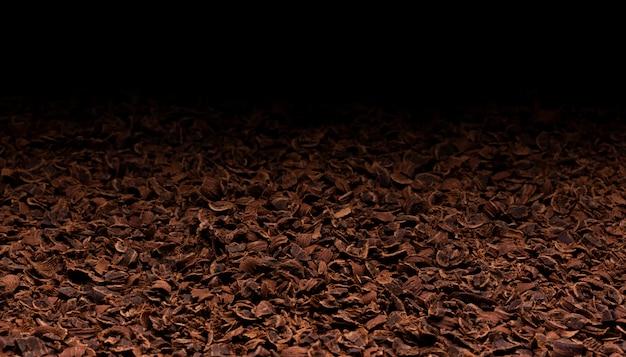 Geriebene schokoladenbeschaffenheit Premium Fotos
