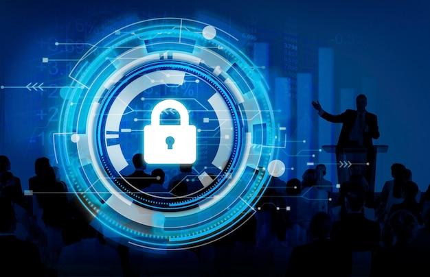 Geschäfts-unternehmensschutz-sicherheits-sicherheits-konzept Kostenlose Fotos