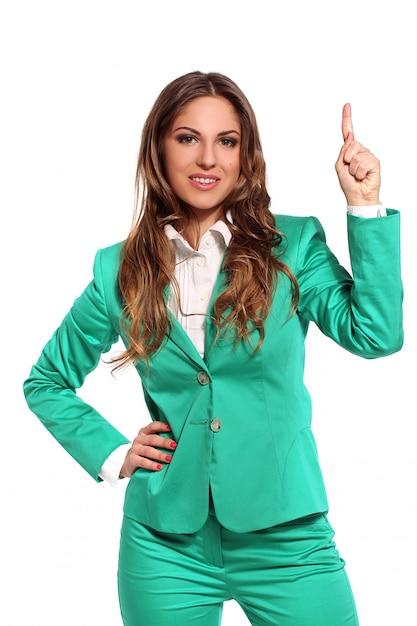 Geschäftsfrau im grünen anzug Kostenlose Fotos