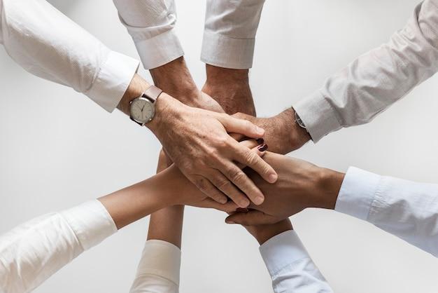 Geschäftshände verbanden teamwork zusammen Kostenlose Fotos