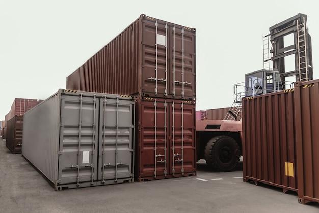 Geschäftslogistikkonzept, globale partneranbindung von container cargo Premium Fotos