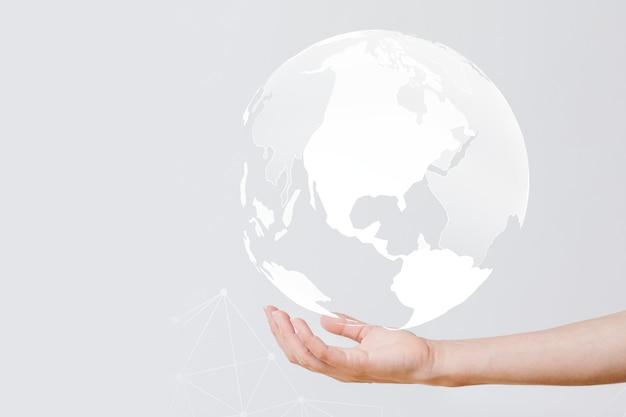 Geschäftsmann mit dem globus in der hand Kostenlose Fotos
