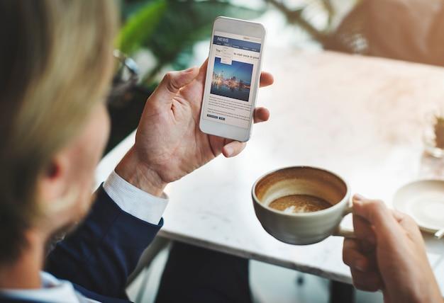 Geschäftsmann relax coffee break-konzept Premium Fotos