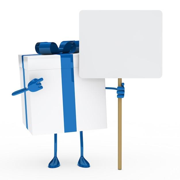 geschenk mit blauem band und ein zeichen download der. Black Bedroom Furniture Sets. Home Design Ideas