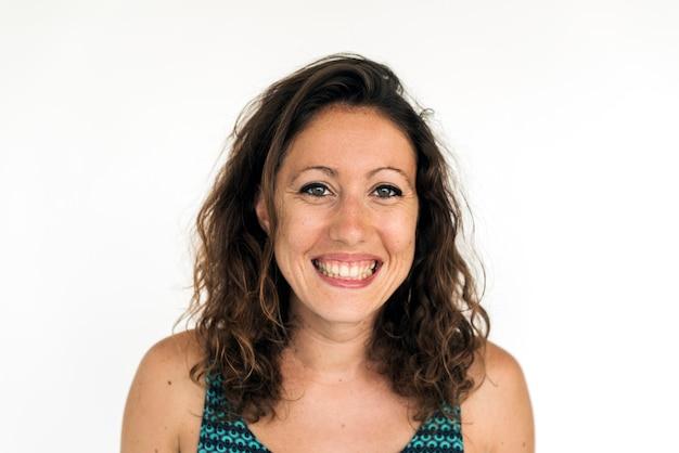 Gesichtsausdruck headshot porträt der kaukasischen frau lächelndes Kostenlose Fotos