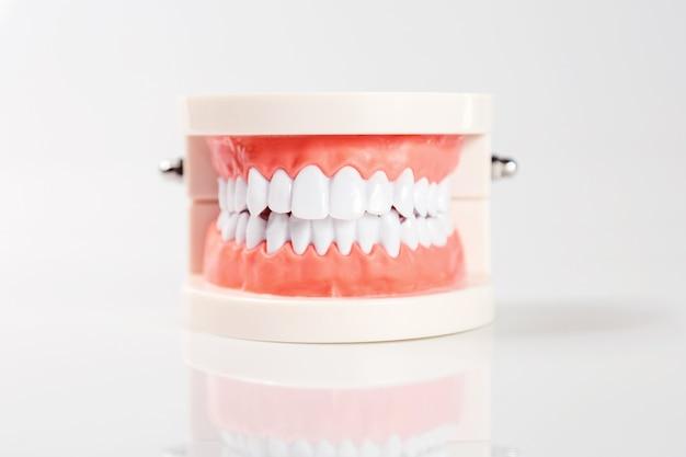 Gesunde ausrüstung des zahnmedizinischen konzeptes bearbeitet zahnpflege Premium Fotos