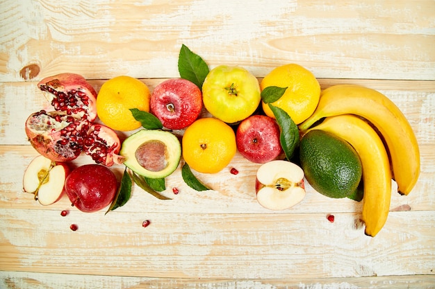 Gesunde auswahl an lebensmitteln, sauberes essen Premium Fotos
