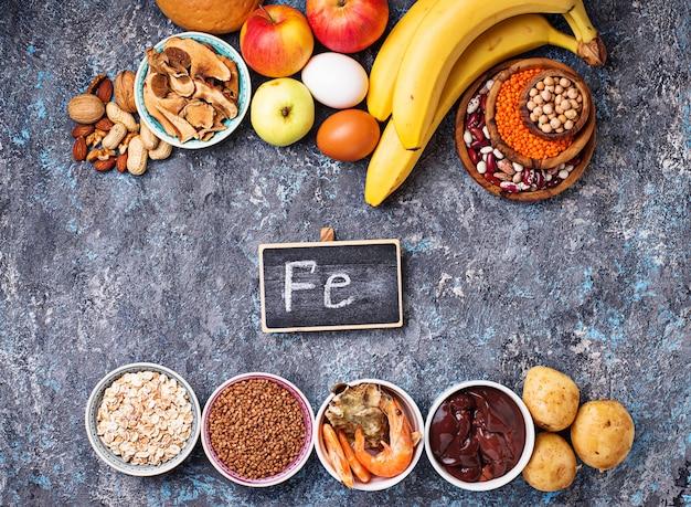 Gesunde produktquellen für eisen Premium Fotos