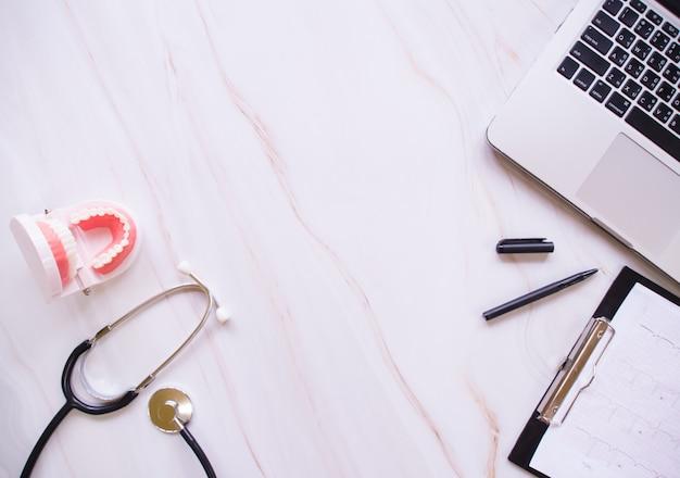 Gesundheitskonzept, draufsicht Premium Fotos