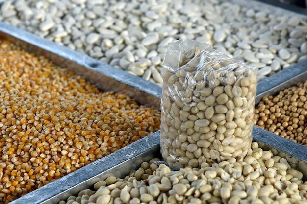 Getreide arbeitsplatte hautnah Premium Fotos