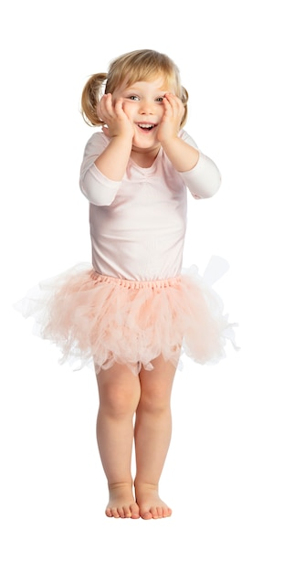 Getrenntes weibliches kind mit ballettröckchen Premium Fotos