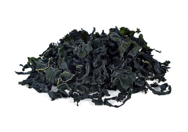 Getrocknete algen isoliert Premium Fotos
