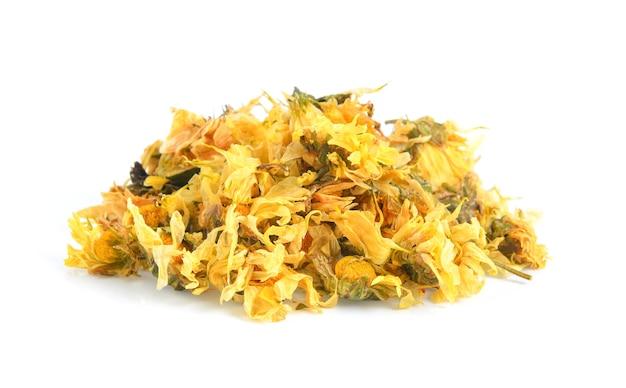 Getrocknete chrysanthemenblüten Premium Fotos