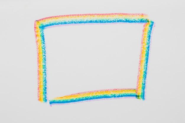 Gezeichneter rahmen in lgbt-farben Kostenlose Fotos